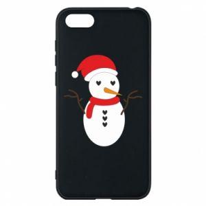 Huawei Y5 2018 Case Snowman in hat