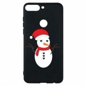 Huawei Y7 Prime 2018 Case Snowman in hat