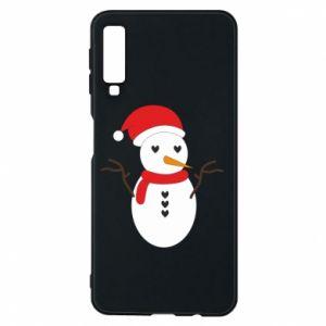 Samsung A7 2018 Case Snowman in hat