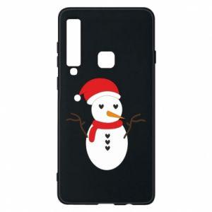 Samsung A9 2018 Case Snowman in hat