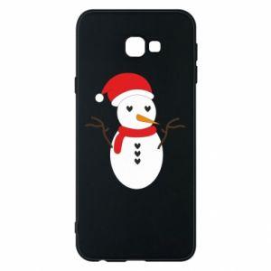 Samsung J4 Plus 2018 Case Snowman in hat