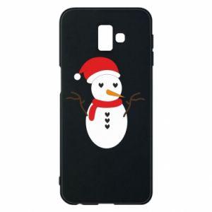 Samsung J6 Plus 2018 Case Snowman in hat