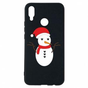 Huawei P Smart Plus Case Snowman in hat