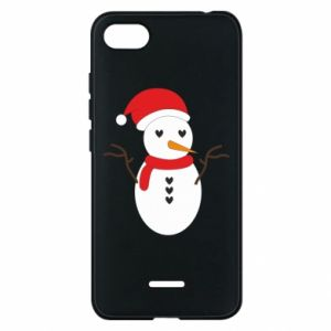 Xiaomi Redmi 6A Case Snowman in hat