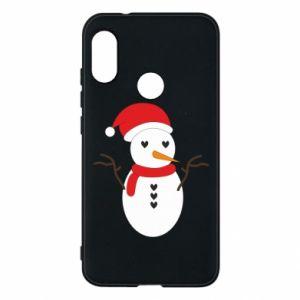 Mi A2 Lite Case Snowman in hat