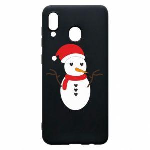 Samsung A30 Case Snowman in hat