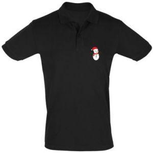 Men's Polo shirt Snowman in hat
