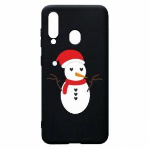 Samsung A60 Case Snowman in hat