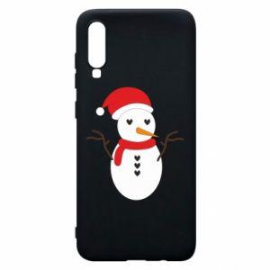 Samsung A70 Case Snowman in hat