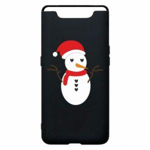Samsung A80 Case Snowman in hat