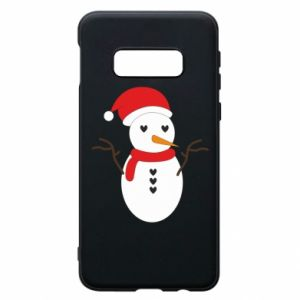 Samsung S10e Case Snowman in hat
