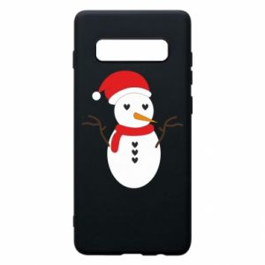 Samsung S10+ Case Snowman in hat