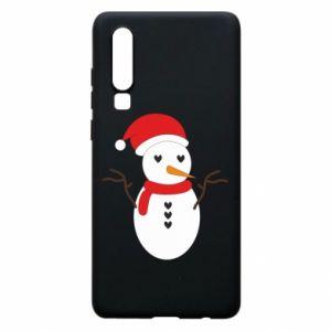 Huawei P30 Case Snowman in hat