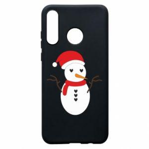 Huawei P30 Lite Case Snowman in hat