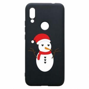 Xiaomi Redmi 7 Case Snowman in hat