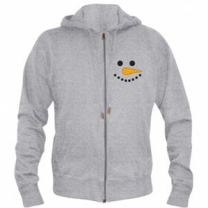 Men's zip up hoodie Snowman
