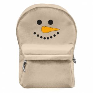 Backpack with front pocket Snowman