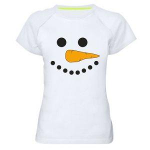 Women's sports t-shirt Snowman