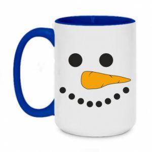 Two-toned mug 450ml Snowman