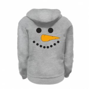 Kid's zipped hoodie % print% Snowman