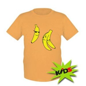 Kids T-shirt Banana in glasses