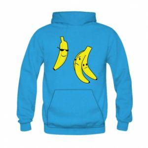 Bluza z kapturem dziecięca Banan w okularach