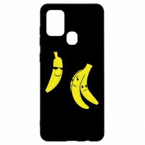 Etui na Samsung A21s Banan w okularach