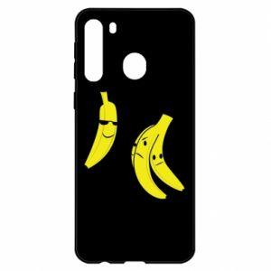 Etui na Samsung A21 Banan w okularach