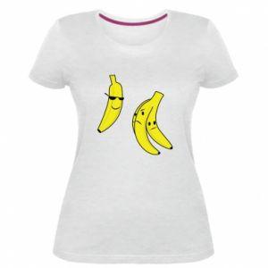 Damska premium koszulka Banan w okularach - PrintSalon