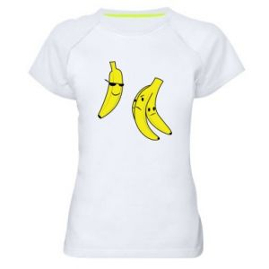 Women's sports t-shirt Banana in glasses