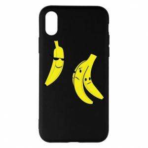 Phone case for iPhone X/Xs Banana in glasses