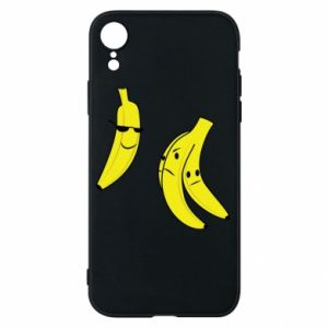 Phone case for iPhone XR Banana in glasses