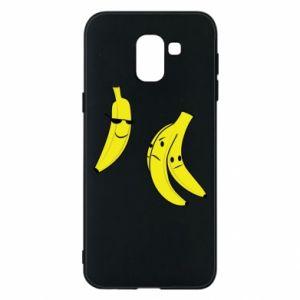 Phone case for Samsung J6 Banana in glasses
