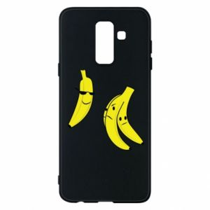 Phone case for Samsung A6+ 2018 Banana in glasses