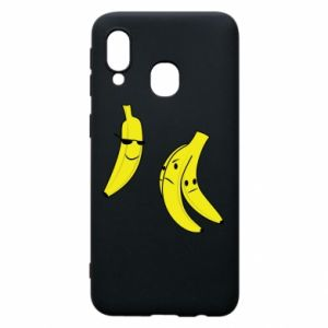 Phone case for Samsung A40 Banana in glasses