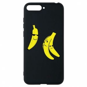 Phone case for Huawei Y6 2018 Banana in glasses