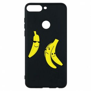Phone case for Huawei Y7 Prime 2018 Banana in glasses