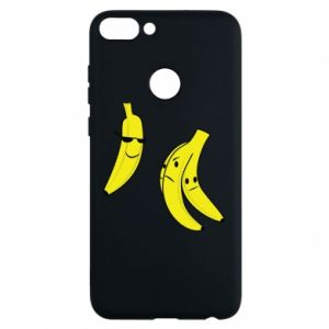 Phone case for Huawei P Smart Banana in glasses
