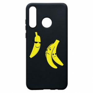 Phone case for Huawei P30 Lite Banana in glasses