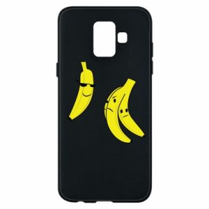 Phone case for Samsung A6 2018 Banana in glasses