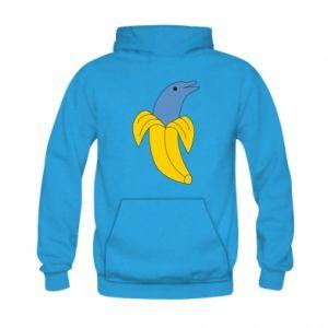 Bluza z kapturem dziecięca Banana dolphin
