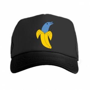 Trucker hat Banana dolphin - PrintSalon