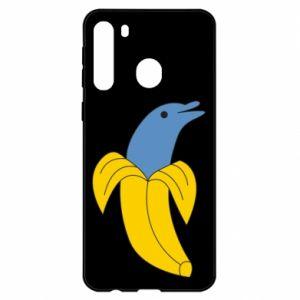 Etui na Samsung A21 Banana dolphin