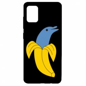 Etui na Samsung A51 Banana dolphin