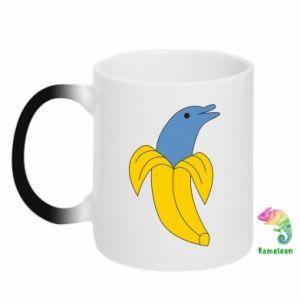 Kubek-kameleon Banana dolphin