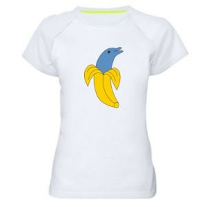 Women's sports t-shirt Banana dolphin - PrintSalon