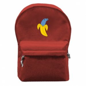Backpack with front pocket Banana dolphin - PrintSalon
