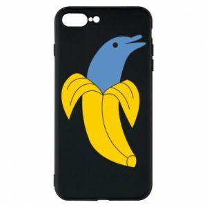 Phone case for iPhone 7 Plus Banana dolphin - PrintSalon