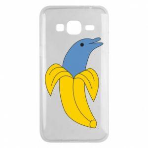 Phone case for Samsung J3 2016 Banana dolphin - PrintSalon