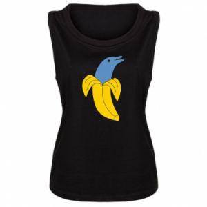 Women's t-shirt Banana dolphin - PrintSalon